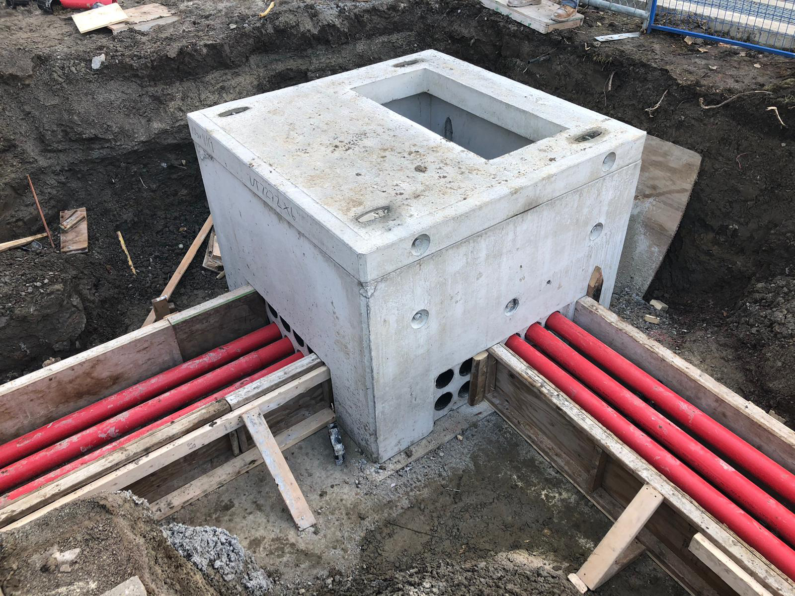 Electric Duct Bank Installation